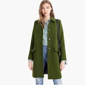 EUC J. Crew Coat With Ruffle Pockets  P0